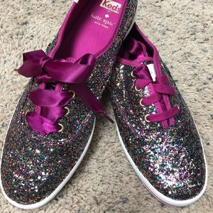 Pink Kate Spade Glitter Keds - New without box 8.5